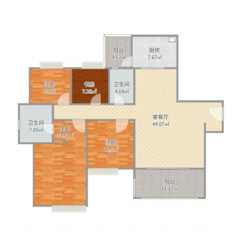 丽江如英居4室1厅2卫1厨174.00㎡户型图