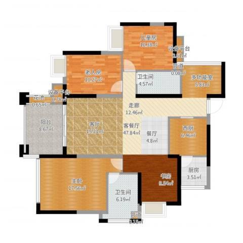 建曙高尔夫1号3室1厅8卫1厨166.00㎡户型图