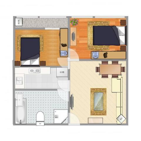 美力・com29-201室1厅1卫1厨61.00㎡户型图