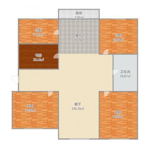 翠竹小区5室1厅1卫1厨417.00㎡户型图