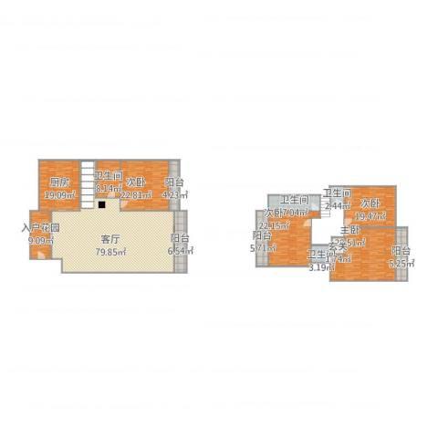 水悦城邦17栋B座5024室1厅4卫1厨326.00㎡户型图