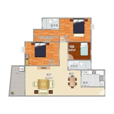 汇星豪庭20栋2023室2厅1卫1厨162.00㎡户型图