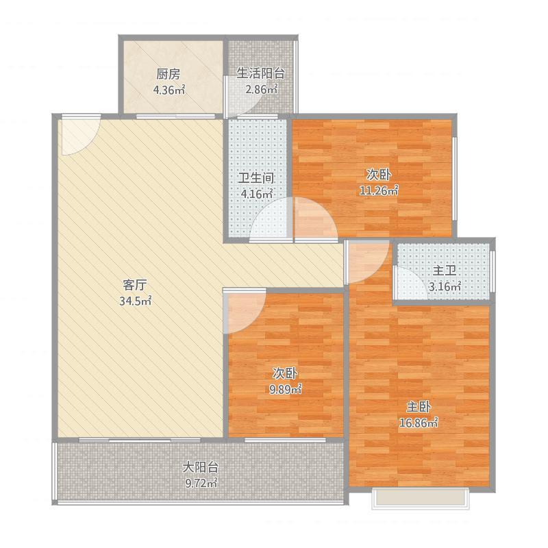 11栋02房户型图