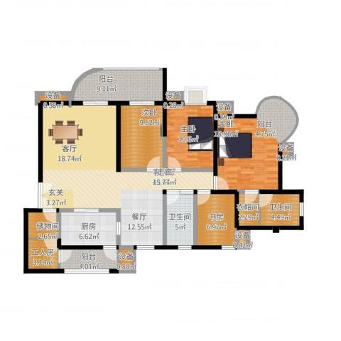 帝景名苑4室1厅2卫1厨188.00㎡户型图