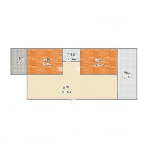 义东苑2室1厅1卫1厨191.00㎡户型图