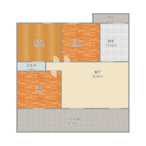鸿翔湖景苑90#1012室1厅1卫1厨260.00㎡户型图