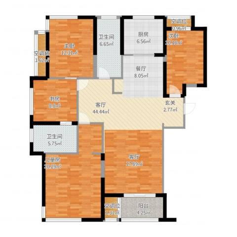 融绿�园4室1厅2卫1厨174.00㎡户型图