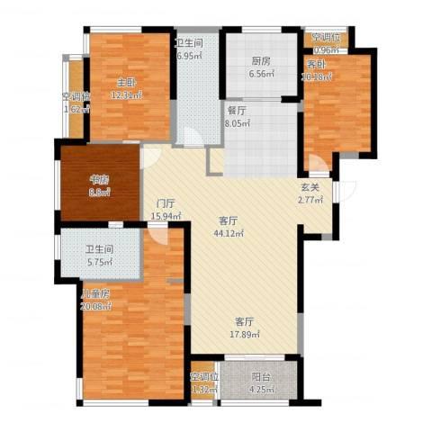 融绿�园4室1厅2卫1厨175.00㎡户型图