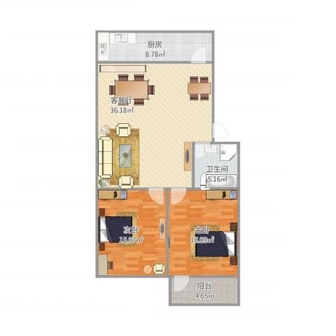 东环花园2212室1厅1卫1厨115.00㎡户型图