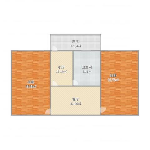 市政公司宿舍2室1厅1卫1厨256.00㎡户型图