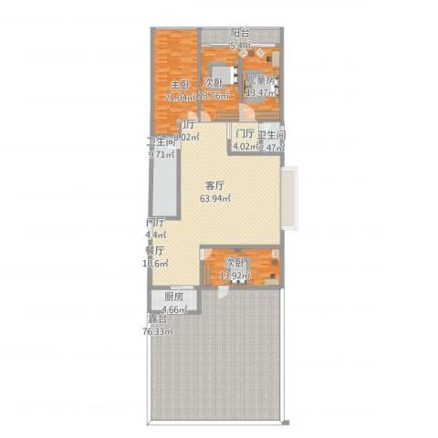 御景花园4室1厅2卫1厨316.00㎡户型图