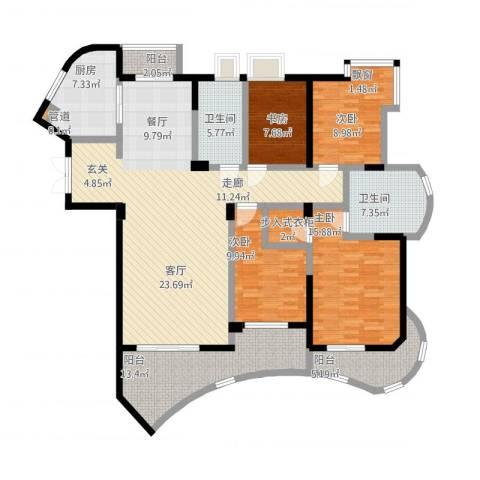 盛世钱塘4室1厅2卫1厨199.00㎡户型图