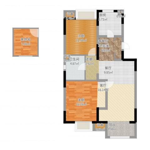 晋中万科・朗润园2室1厅1卫1厨116.00㎡户型图