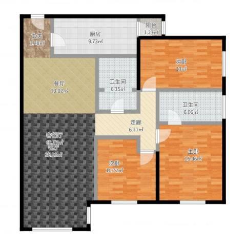 天通・公园里3室1厅2卫1厨155.00㎡户型图