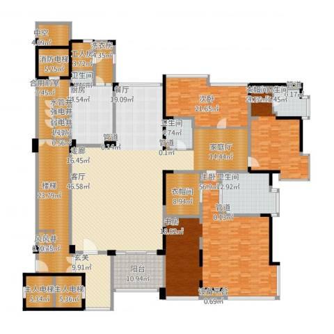 中铁·凤凰谷3室1厅4卫1厨467.00㎡户型图