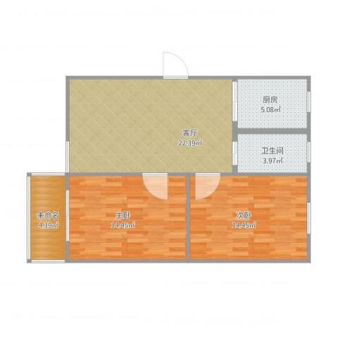 东景花园782室1厅1卫1厨87.00㎡户型图