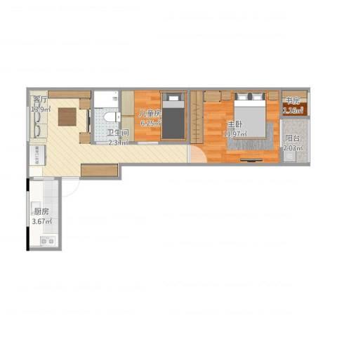 南辉小区3室1厅1卫1厨57.00㎡户型图