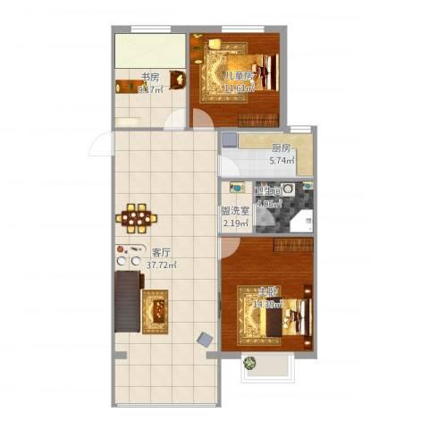 宣府第一城3室2厅1卫1厨115.00㎡户型图