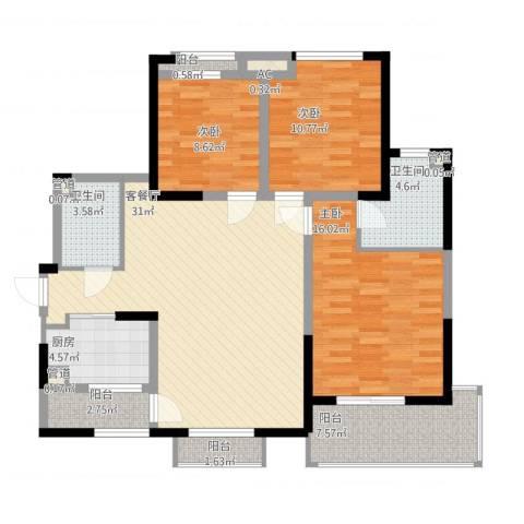 高山流水和城3室1厅2卫1厨134.00㎡户型图