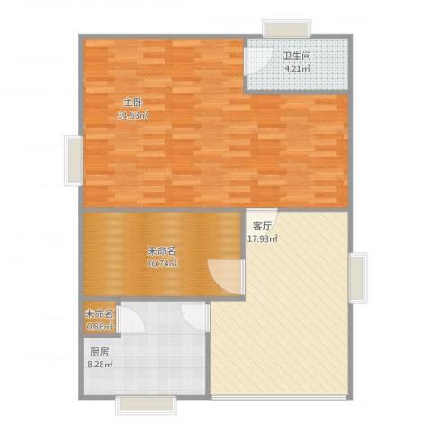 威远住宅小区二层1室1厅1卫1厨98.00㎡户型图