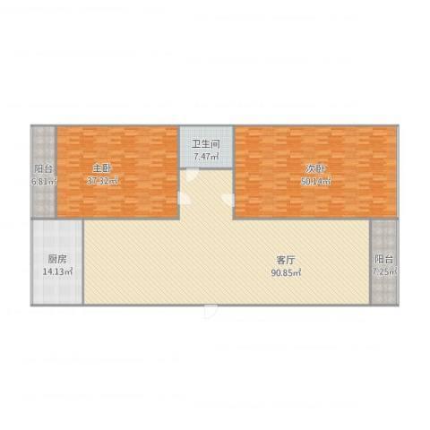 家兴小区2室1厅1卫1厨279.00㎡户型图