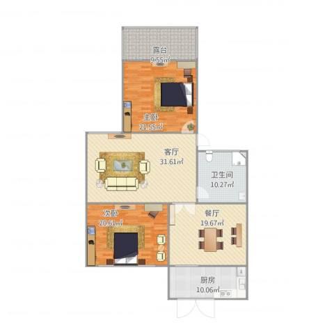居安坊2室2厅1卫1厨163.00㎡户型图