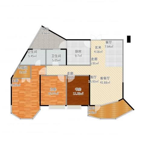 盛世钱塘3室1厅2卫1厨171.00㎡户型图
