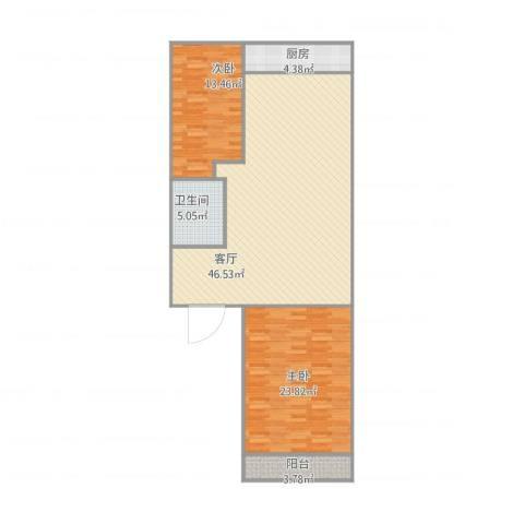 湖滨苑2室1厅1卫1厨129.00㎡户型图