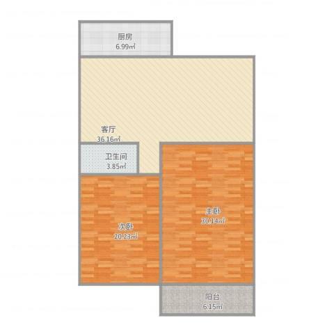 志成顺园2室1厅1卫1厨137.00㎡户型图