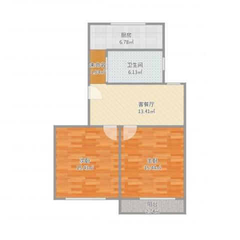 梅陇十一村118.5012室1厅1卫1厨82.00㎡户型图