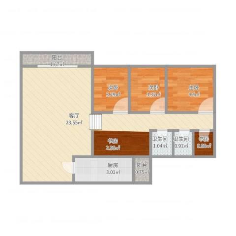 海天花园4室1厅2卫1厨60.00㎡户型图