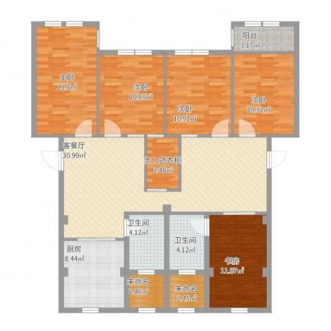 万兴凤凰花园5室1厅2卫1厨164.00㎡户型图