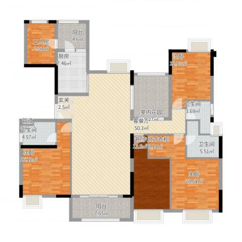 中海文华熙岸4室1厅3卫1厨229.00㎡户型图