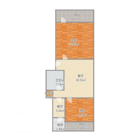 师范小区2室2厅1卫1厨149.00㎡户型图