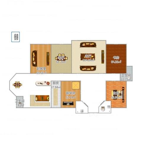 世茂佘山庄园2室2厅2卫1厨625.00㎡户型图