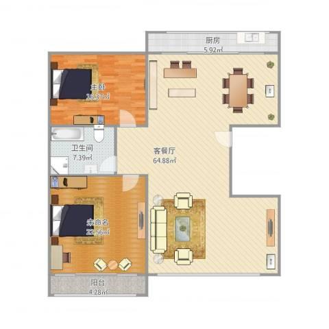 白鹤花苑1室1厅1卫1厨160.00㎡户型图