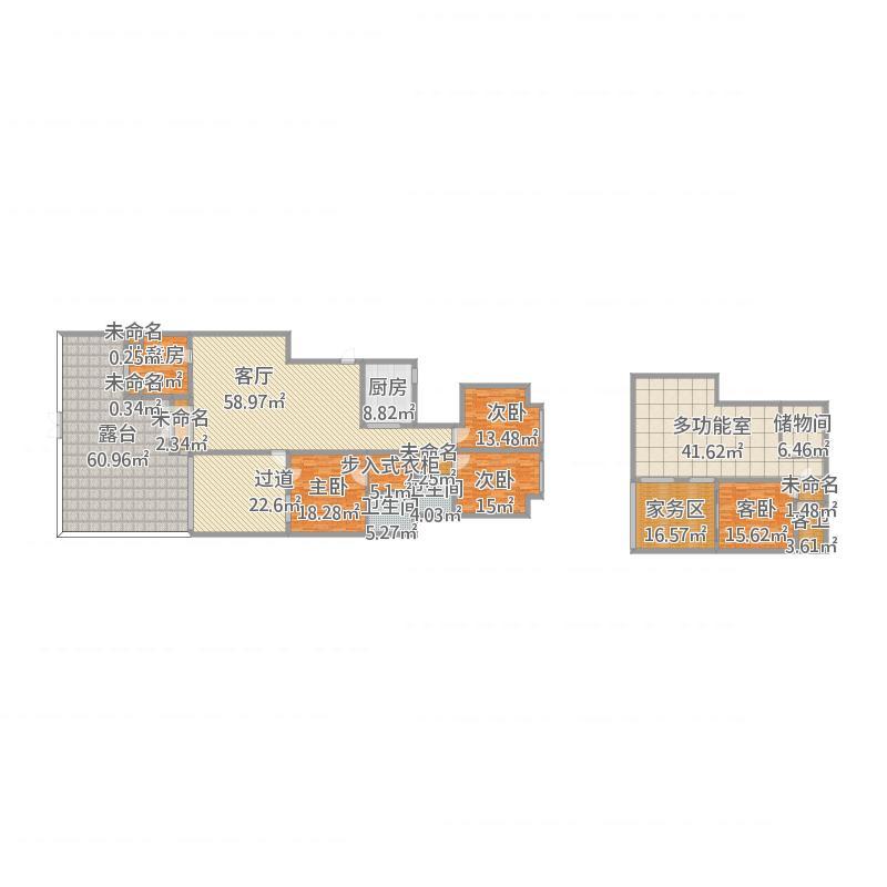 中航翡翠城二期洋房5栋2单元101(201.7㎡)