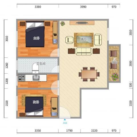福满家园2房户型图