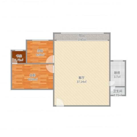 海意名苑3室1厅1卫1厨86.00㎡户型图