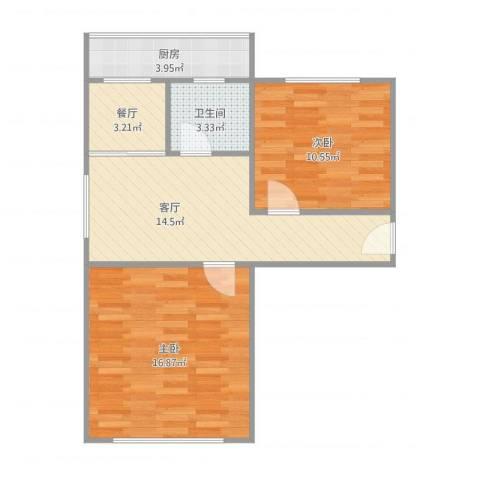 佳宁里2室2厅1卫1厨71.00㎡户型图