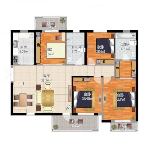 旺座城—海德堡PARK3室1厅2卫1厨178.00㎡户型图