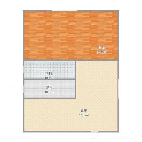 世纪嘉园1室1厅1卫1厨163.00㎡户型图