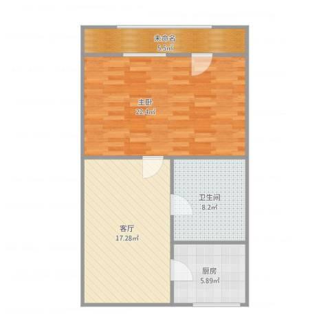 恩德西里1室1厅1卫1厨80.00㎡户型图