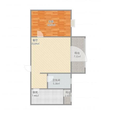 特区8081室1厅1卫1厨82.00㎡户型图