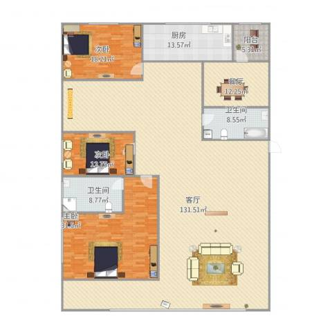宏都筑景3室2厅2卫1厨318.00㎡户型图