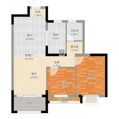 花样年别样城2室1厅3卫1厨106.00㎡户型图