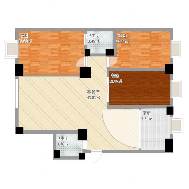 三室两厅两卫-吕总姐夫