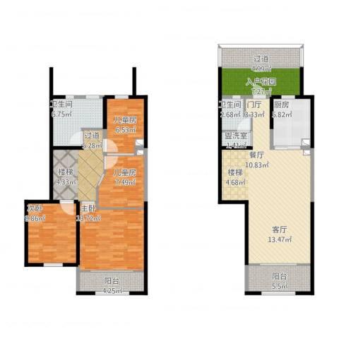 天朗蔚蓝东庭4室1厅5卫2厨168.00㎡户型图