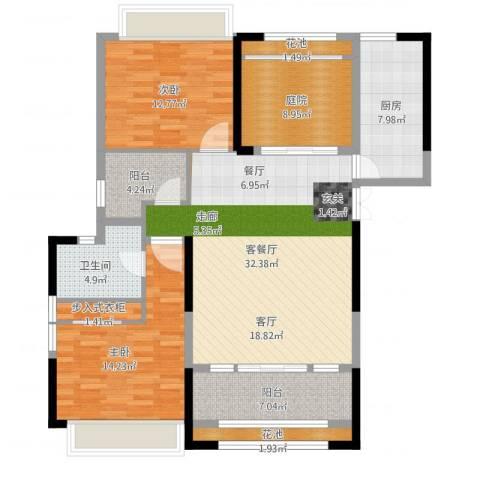 香榭一品2室1厅1卫1厨140.00㎡户型图
