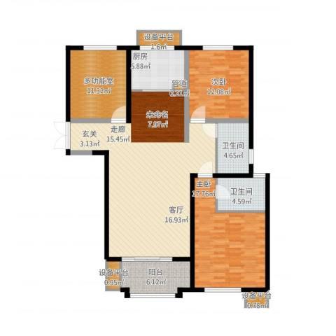 东方米兰国际城2室1厅2卫1厨155.00㎡户型图